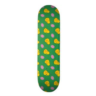 Cute green baby chick easter pattern skate decks
