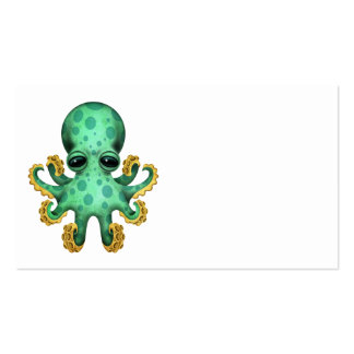 Cute Green Baby Octopus Business Cards