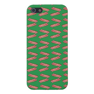 Cute green bacon pattern iPhone 5/5S covers
