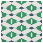 Cute green blue ikat tribal patterns fabric