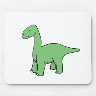 Cute Green Brontosaurus Mouse Pad