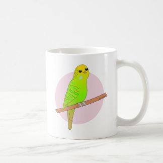 Cute Green Budgie Coffee Mug
