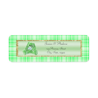 Cute Green Bunny Baby Shower