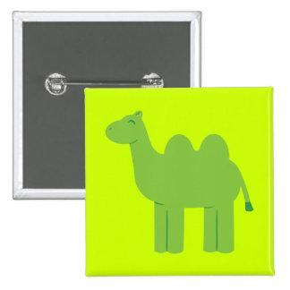 Cute Green Camel 15 Cm Square Badge