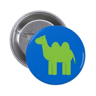 Cute Green Camel 6 Cm Round Badge
