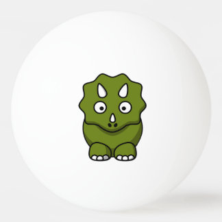 Cute Green Cartoon Dinosaur Ping Pong Ball