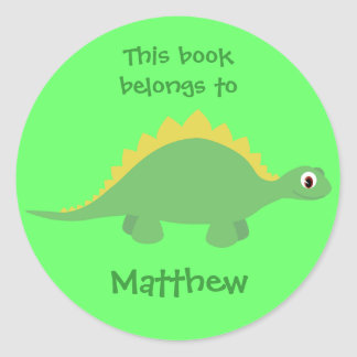 Cute Green Cartoon Dinosaur Stickers