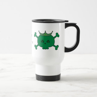 Cute Green Cartoon St Paddys Irish Princess Skulls Stainless Steel Travel Mug