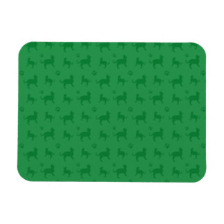 Cute green cats and paws pattern vinyl magnets