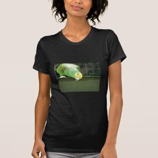Cute Green Cheeky Parrot Watch Something By Loweri Tee Shirt