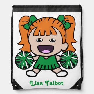 Cute Green Cheerleader Backpack