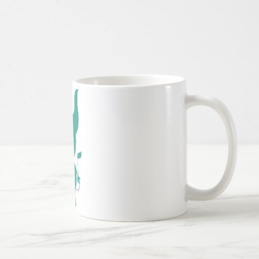 Cute Green Cyclops Basic White Mug