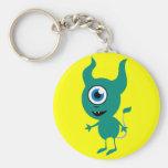 Cute Green Cyclops Keychain