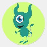 Cute Green Cyclops Sticker