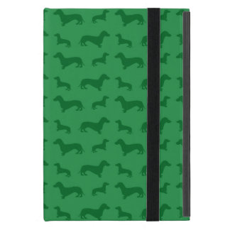 Cute green dachshund pattern iPad mini cover