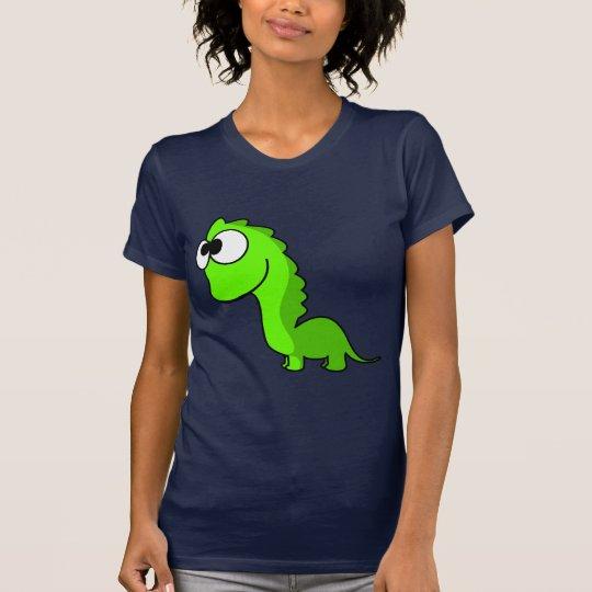 Cute green dinosaur animation illustration T-Shirt