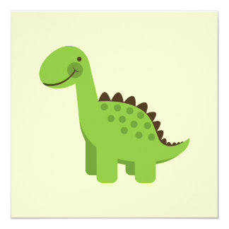 Cute Green Dinosaur Card