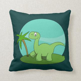Cute Green Dinosaur Cushion