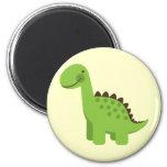 Cute Green Dinosaur Magnet