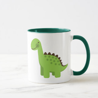 Cute Green Dinosaur Mug