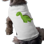 Cute Green Dinosaur Pet Shirt