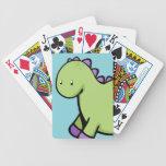 Cute Green Dinosaur Playing Cards
