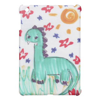 Cute Green Dinosaur Sketch iPad Case