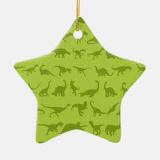 Cute Green Dinosaurs Patterns for Boys Christmas Ornament