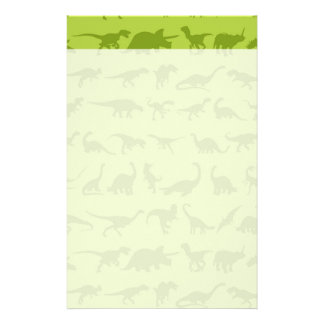 Cute Green Dinosaurs Patterns for Boys Stationery