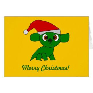 Cute green Dragon Greeting Card