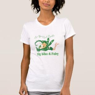 Cute Green Fairy - Fly Like A Fairy Women's T-Shirt