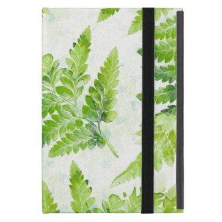 Cute Green Fern Leaves Modern Botanical Watercolor Case For iPad Mini