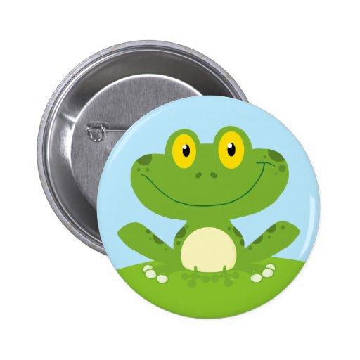 Cute Green Frog Pins