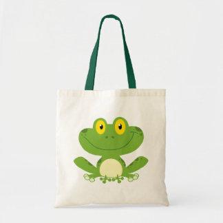 Cute Green Frog Budget Tote Bag