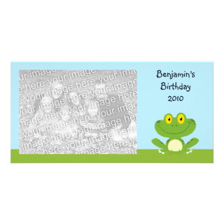 Cute Green Frog Card