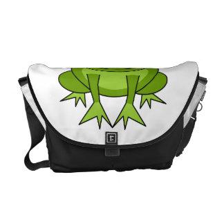 Cute Green Frog Cartoon Messenger Bag