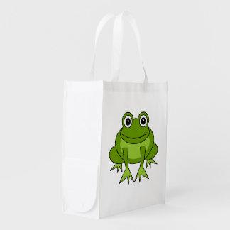Cute Green Frog Cartoon