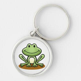 Cute Green Frog Key Ring