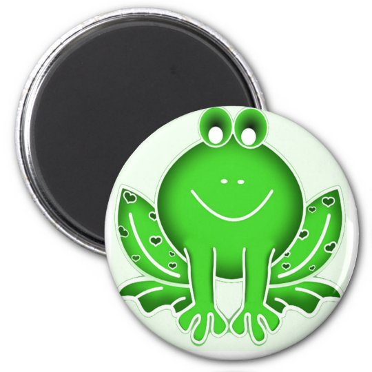 Cute green frog magnet