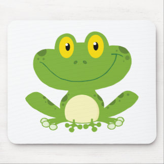 Cute Green Frog Mouse Mat
