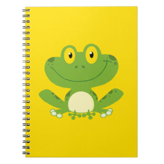 Cute Green Frog Notebooks