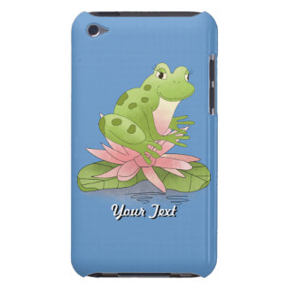 Cute Green Frog On Lily Pad Pond Designer Art Barely There iPod Cover