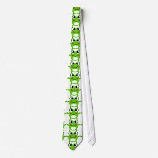 Cute Green Frog Pattern Tie