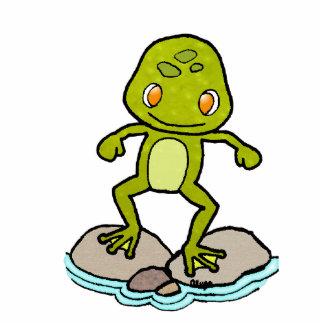 cute green frog photo cutouts