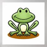 Cute Green Frog Print