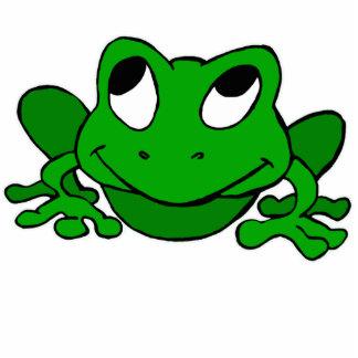 Cute Green Froggie Photo Sculpture Decoration