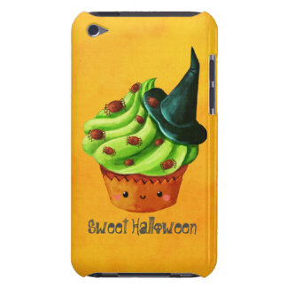 Cute Green Halloween Cupcake Barely There iPod Cases