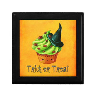 Cute Green Halloween Cupcake Gift Box