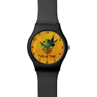Cute Green Halloween Cupcake Watch