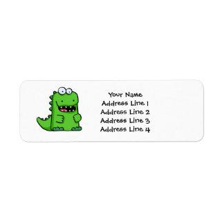 Cute Green Happy Dinosaur